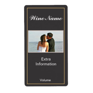 Classic Black Wine Label Shipping Label