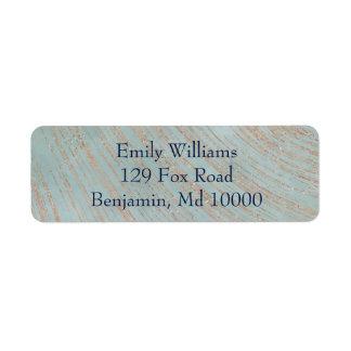 Classic Blue and Copper Return Address Label