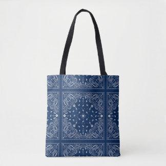 Classic Blue Bandanna Tote Bag