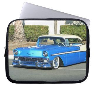 Classic blue car laptop sleeve