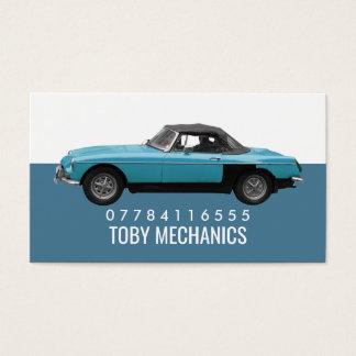 Classic Blue Car, Mechanics Business Card
