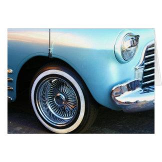 Classic Blue Car Notecard