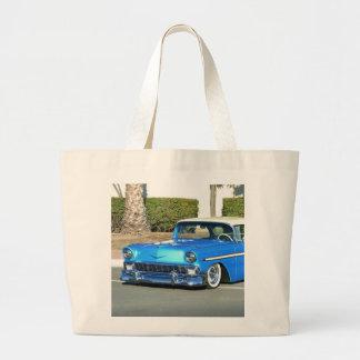 Classic blue car tote bag