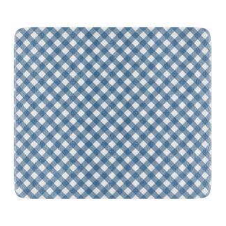 Classic Blue Gingham Pattern Cutting Boards