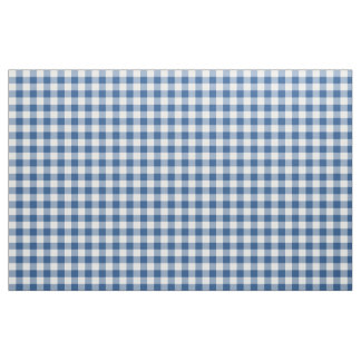 Classic Blue Gingham Pattern Fabric