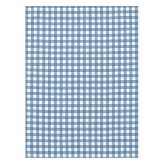 Classic Blue Gingham Pattern Tablecloth
