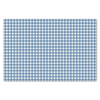 Classic Blue Gingham Tissue Paper