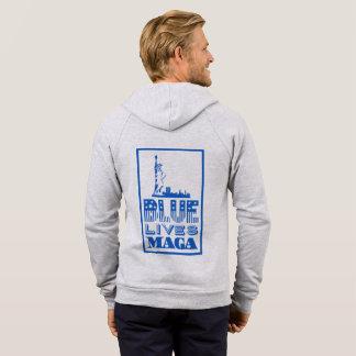Classic Blue Lives MAGA Men's Hoodie