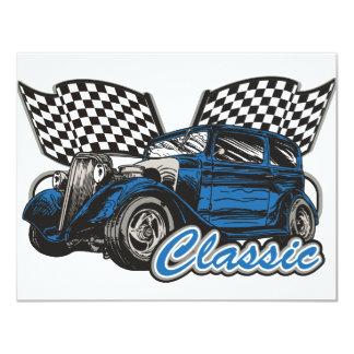 Classic Blue Sedan Card