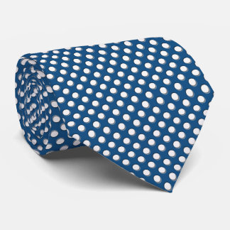 Classic Blue with White Polka Dots Tie