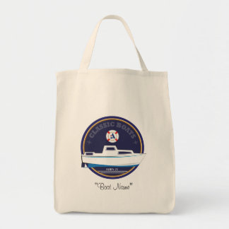 Classic Boats Albin 25 grocery tote