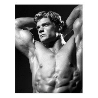 Classic Bodybuilder Postcard