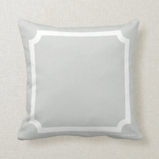 Classic Border Pillow in Weathered/White
