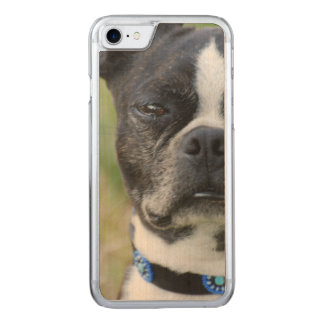 Classic Boston Terrier Dog Carved iPhone 8/7 Case