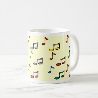 Classic Branca mug 325 ml - Musical Notes