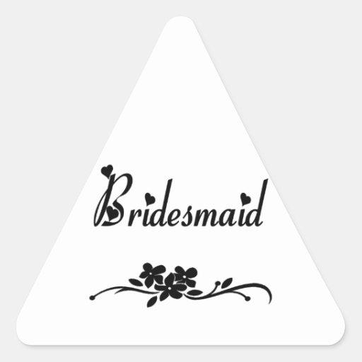 Classic Bridesmaid Triangle Sticker