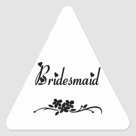 Classic Bridesmaid Triangle Sticker