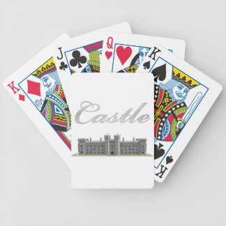 Classic British Castle with Castle Text Bicycle Playing Cards