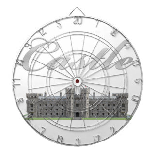 Classic British Castle with Castle Text Dartboard