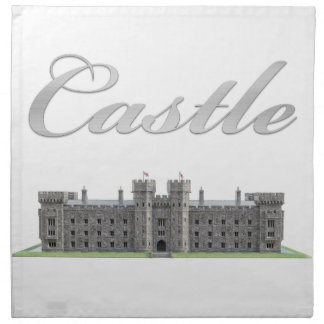 Classic British Castle with Castle Text Napkin