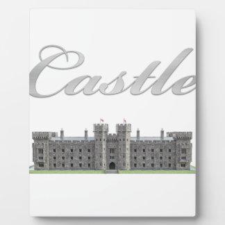 Classic British Castle with Castle Text Plaque
