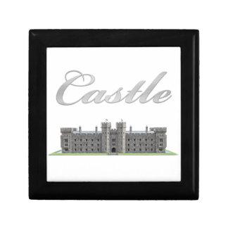 Classic British Castle with Castle Text Small Square Gift Box
