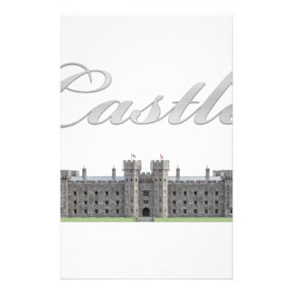 Classic British Castle with Castle Text Stationery