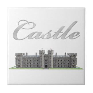 Classic British Castle with Castle Text Tile