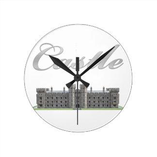 Classic British Castle with Castle Text Wallclocks
