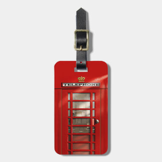 Classic British Red Telephone Box Personalized Luggage Tag