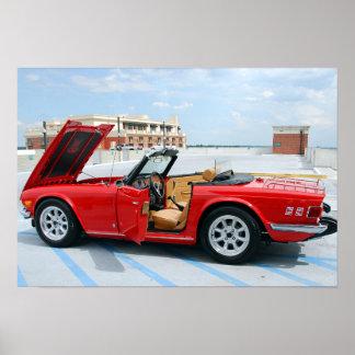 Classic British Sports Car Poster