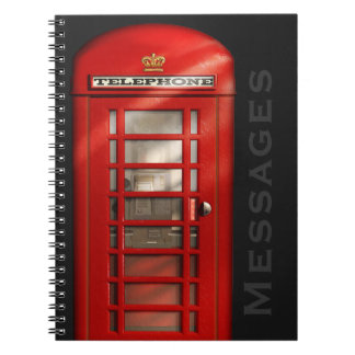 Classic British Telephone Messages Notebook