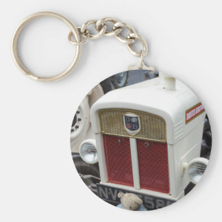 Classic British Tractor Basic Round Button Key Ring