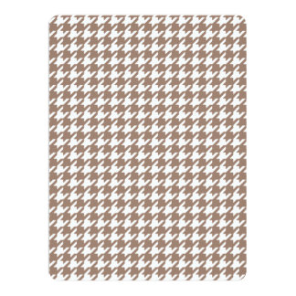 Classic Brown and White Houndstooth Pattern Invitations