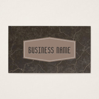 Classic Brown Label Marble Texture Business Card