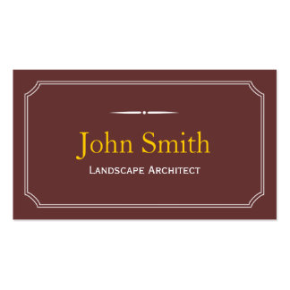 Classic Brown Landscape Architect Business Card