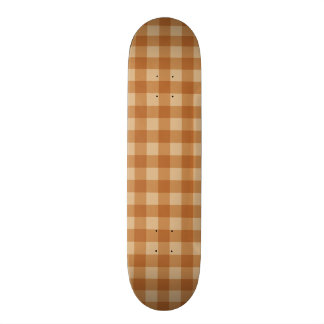 Classic brown plaid checkered cloth 21.6 cm old school skateboard deck