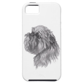 Classic Brussels Griffon  Dog profile Drawing iPhone 5 Cases