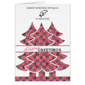 Classic Buffalo Plaid Christmas Business Card