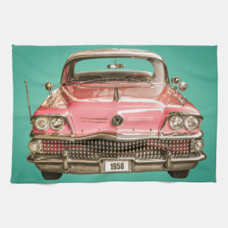 Classic Buick 1958 Century Car Tea Towel