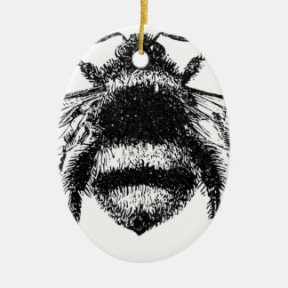 Classic Bumble Bee Ceramic Ornament