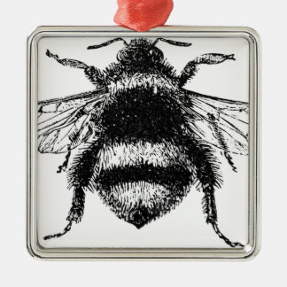 Classic Bumble Bee Metal Ornament