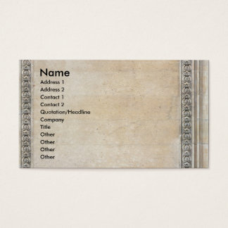 Classic business card with ornaments