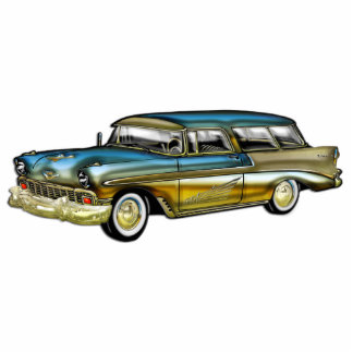 Classic Cadillac 2 Door Hard Top Standing Photo Sculpture