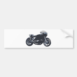 Classic Cafe Racer Motorcycle Bumper Sticker
