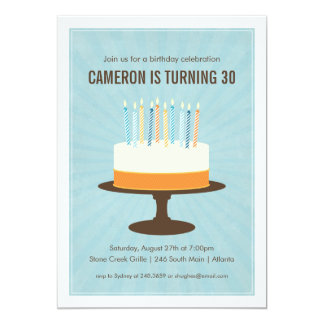 Classic Cake Birthday Invitation