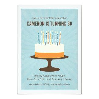 "Classic Cake Birthday Invitation 5"" X 7"" Invitation Card"