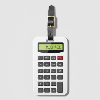 Classic Calculator with Custom Name Look Luggage Tag