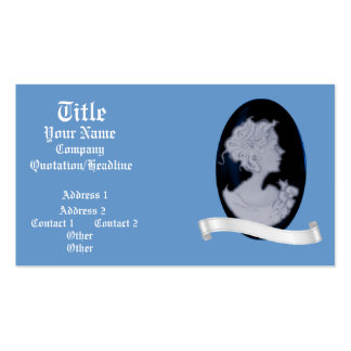 Classic Cameo (Blue) (Wedding) Pack Of Standard Business Cards