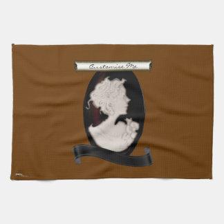 Classic Cameo (Ivory/Brown) Tea Towel